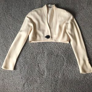 Saks Fifth Avenue cropped blazer vintage